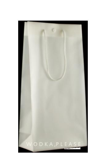 Double white plastic bag