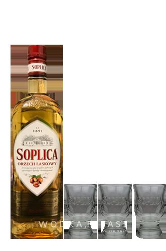 Soplica Haselnuss + 3 x Shot Glas - wodkaplease